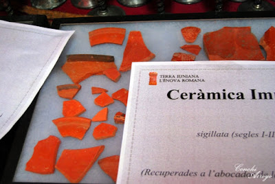 Restos de ceramica sigillata encontrada en L'Enova