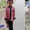 Lahir Tanpa Sebelah Kaki, Anak Yatim Melompat2 Pergi Sekolah