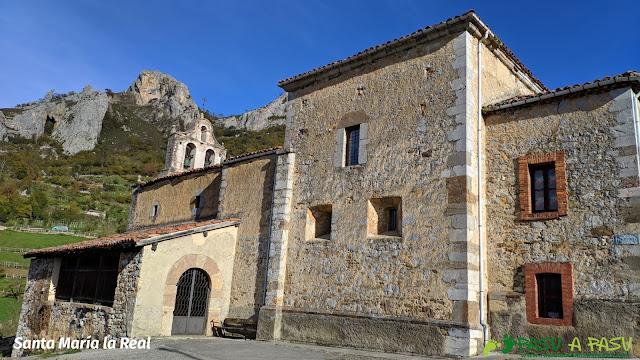 Iglesia de Santa María la Real en Pelúgano, Aller