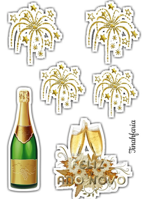 New Year Party: Free Printable Cake Toppers.