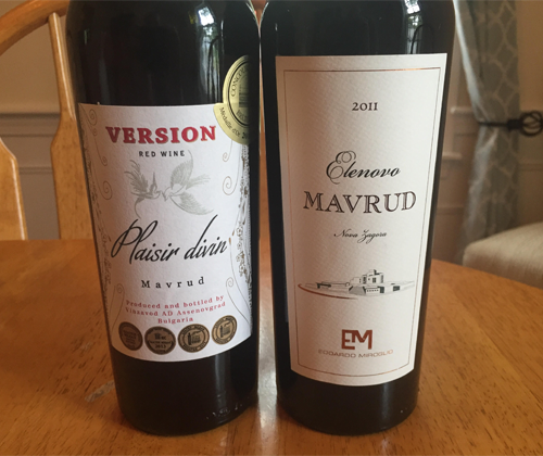 Wine Review: Version Plaisir divin Mavrud 2013 & Elenovo Mavrud 2011