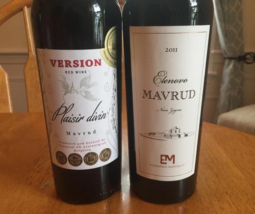 Wine Review: Version Plaisir divin Mavrud 2013 & Elenovo Mavrud 2011
