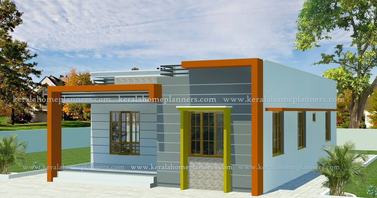 Low budget 2 bedroom home for 10 lakhs in 860 sqft with for Low budget home plans