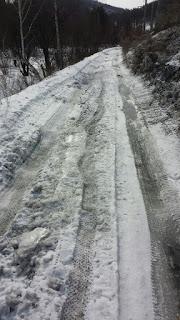 Автодорога вдоль жд из Орленка