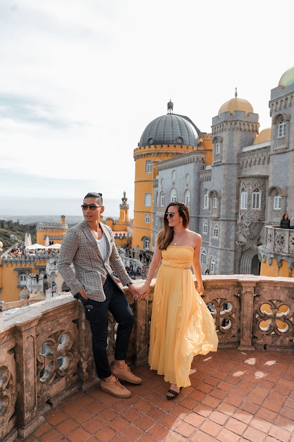 Alicia Mara and Leo Chan at Pena Palace in Sintra, Portugal | Travel Guide