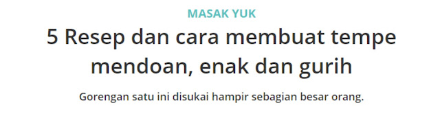 contoh artikel how to