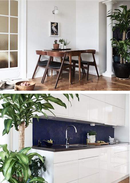 árboles en los interiores, llámese cocinas y salas.