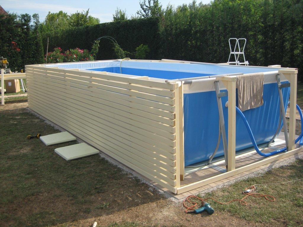 Progettazione e arredo in 3d piscine fuoriterra - Piscine fuori terra con solarium ...