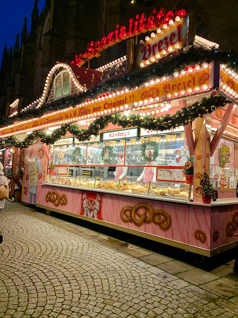 pretzel stall at Bremen Christmas market