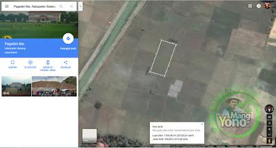 Gb.3. Klik tepi-tepi lahan, pada bebepa titik hingga kembali pada titik awal