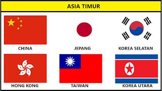 Bendera Negara Asia Timur