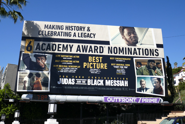Judas and Black Messiah Academy Award billboard