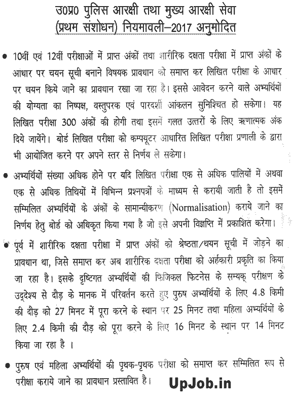 UP Police Constable Exam Syllabus Question paper Pattern New, revised 2017