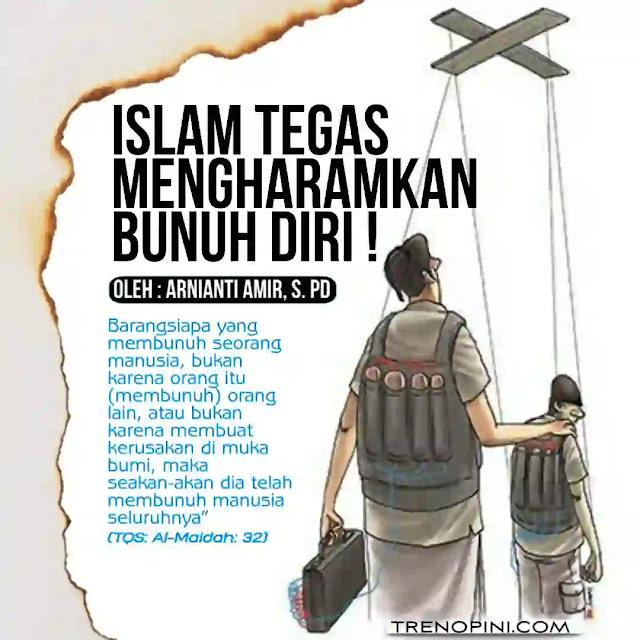 """""""Barangsiapa yang membunuh seorang manusia, bukan karena orang itu (membunuh) orang lain, atau bukan karena membuat kerusakan di muka bumi, maka seakan-akan dia telah membunuh manusia seluruhnya"""" (TQS: Al-Maidah: 32)"""