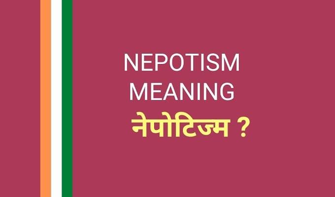 नेपोटिज्म का मतलब क्या है   Nepotism Meaning in Hindi