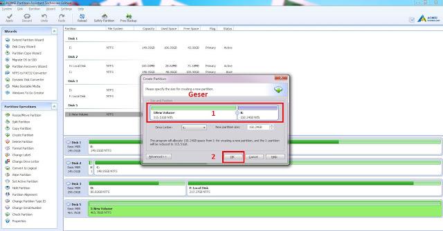 Download Aomei partitions assistant Full Version Dan Cara Partisi hardsik Menggunakan Aomei partitions assistant Terbaru