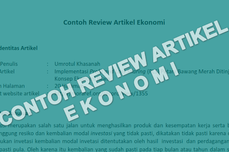 Contoh Review Artikel Jurnal Maupun Penelitian
