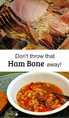 Stretch that holiday ham even further: use the bone to make the best ham and bean soup ever! From Oak Hill Homestead