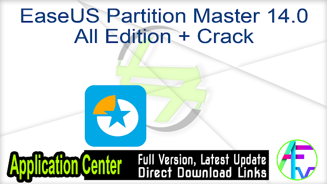 EaseUS Partition Master 14.0 All Edition + Crack
