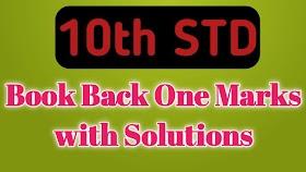 10TH STD MATHS ONE MARKS