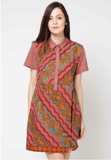 Model Dress Batik Modern Anggun