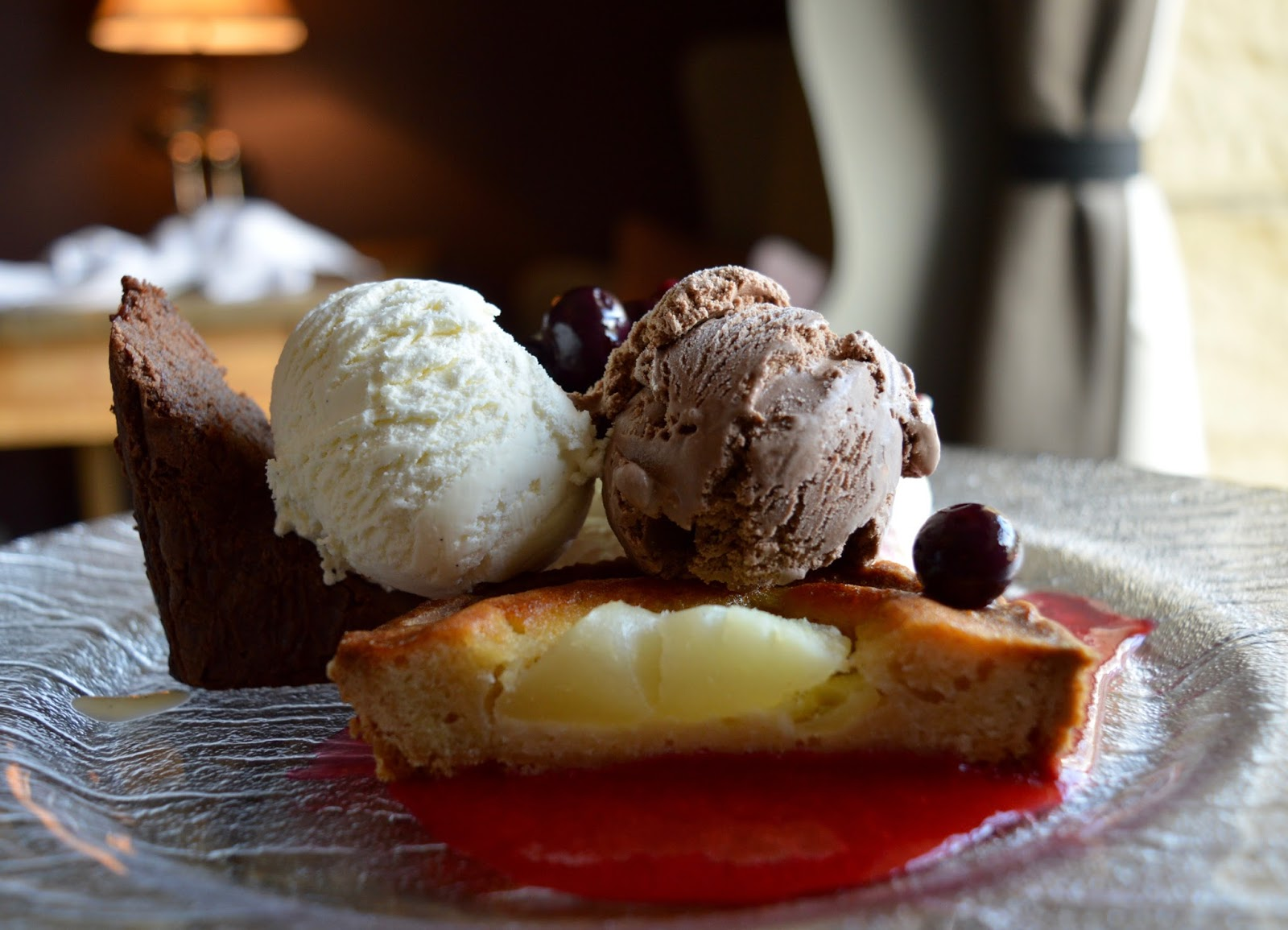 The Northumberland Arms, Felton - trio of desserts