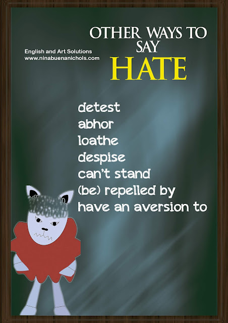 other ways to say hate
