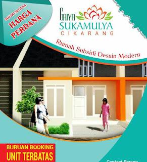 Rumah  Murah Tanpa DP Di cikarang Bekasi  Perumahan Subsidi Terbaru