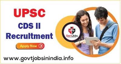UPSC CDS II Online Form 2021