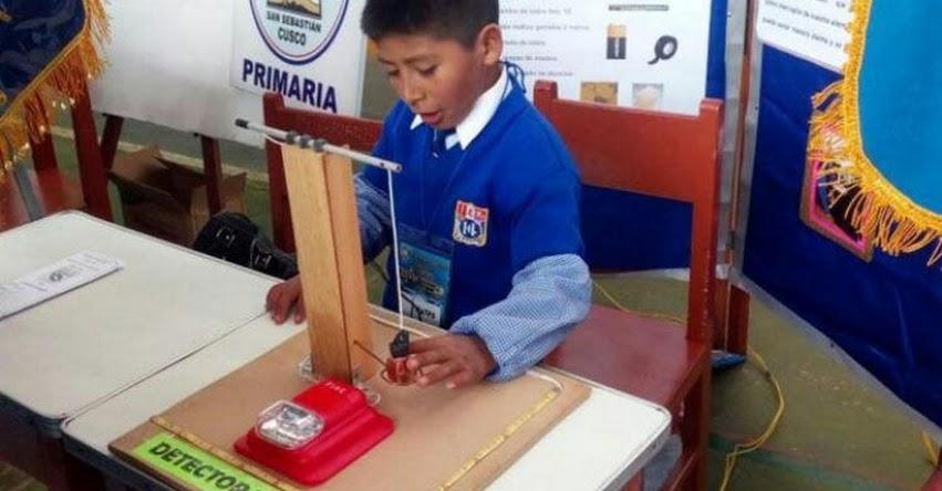EUREKA 2017: Escolar cusqueño de 9 años diseñó su propio «detector de sismos»