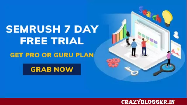 semrush free trial 7 days