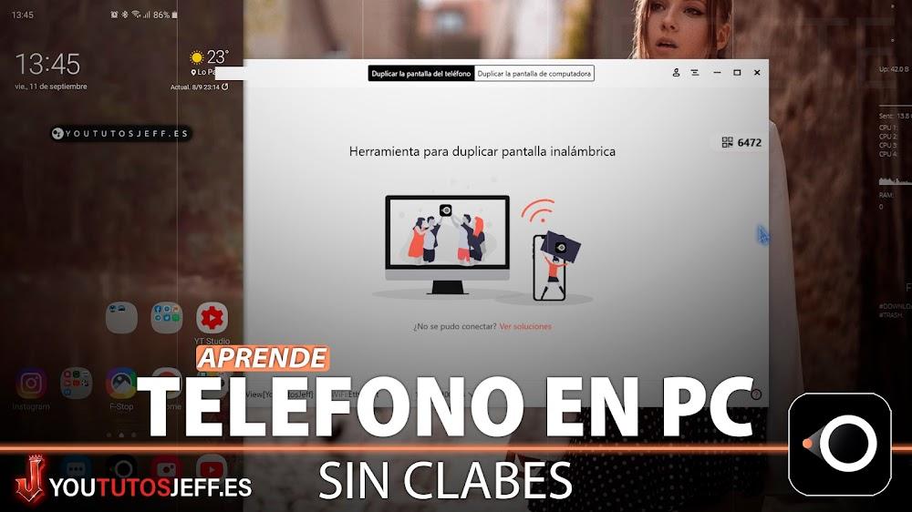 Ver Pantalla del Teléfono en PC SIN CABLES Y FÁCIL