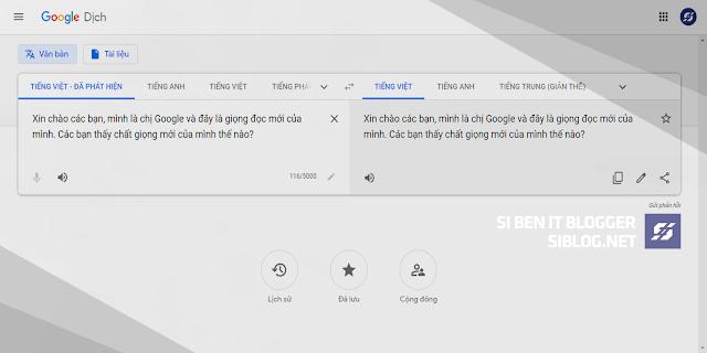 Giọng Nói Mới Của Chị Google, Update Google Transale, Google Dịch Đã Có Giọng Nói Mới, Chị Google Của Chúng Ta Giờ Đã Có Giọng Mới