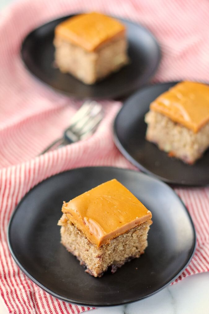 Jam Cake with Caramel Frosting on plates