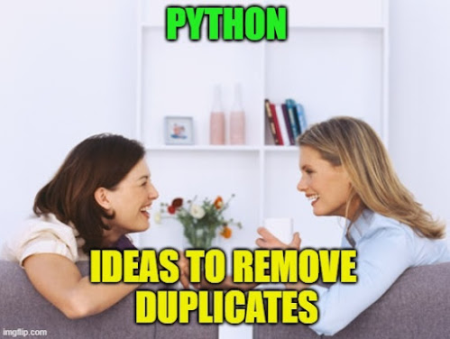 Python: How to Remove Duplicates From List