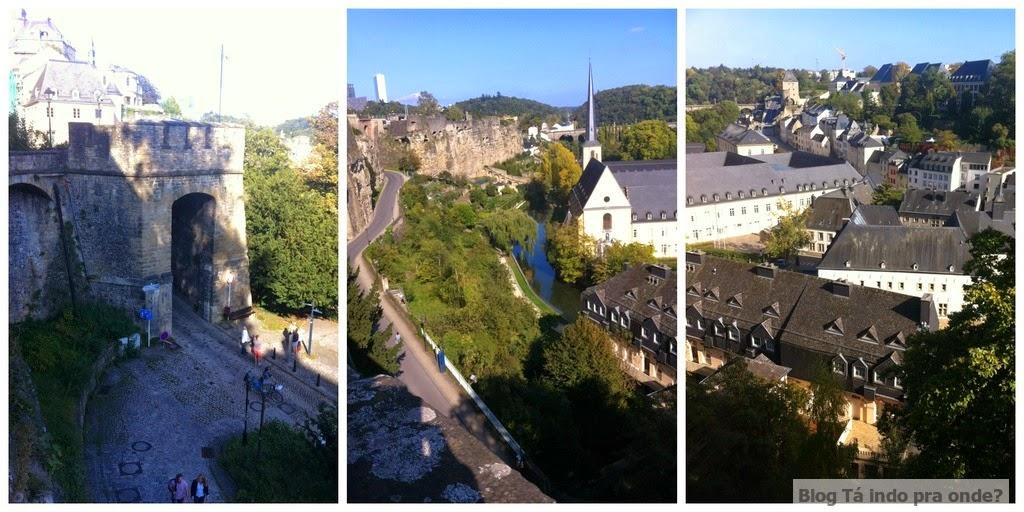 Grund visto da Corniche em Luxemburgo