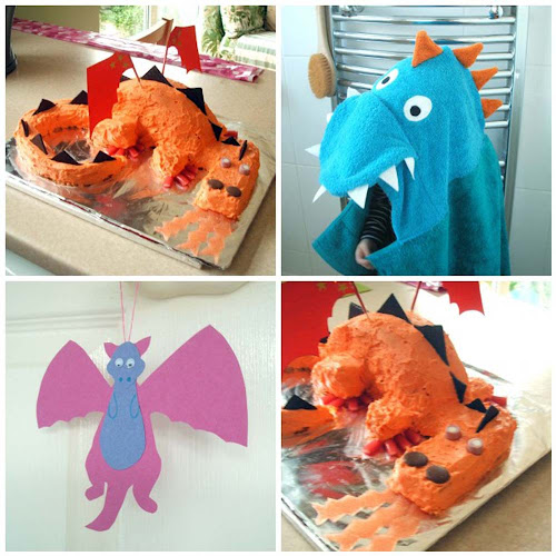 dragon themed children's party cake