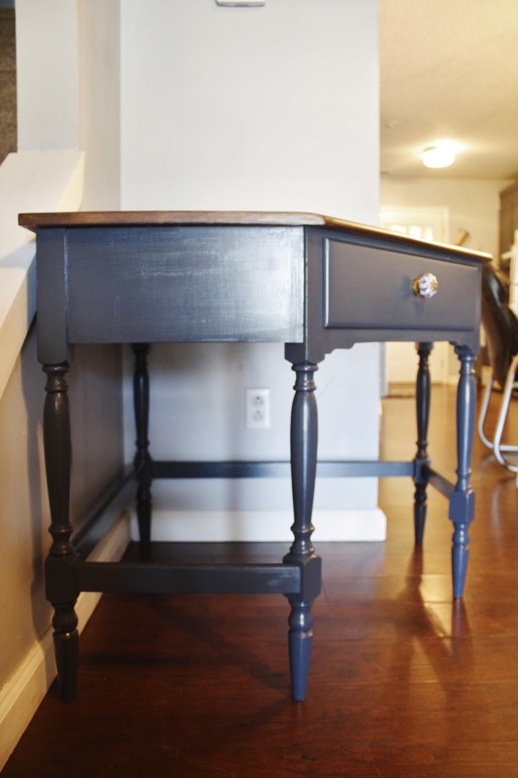 Jl Designs Navy Blue Corner Desk