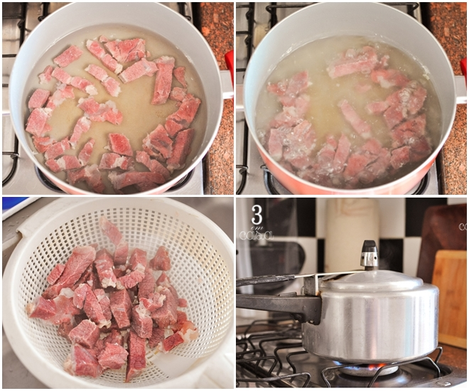 dica para dessalgar carne seca rápido