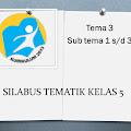 SILABUS TEMATIK KELAS 5 SEMESTER 1 Tema 3 Sub tema 1 s/d 3