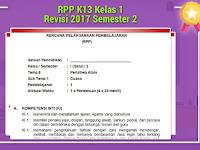 RPP K13 Kelas 1 Revisi 2017 Semester 2