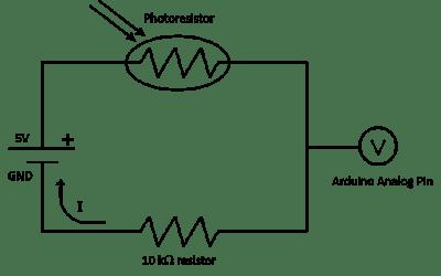Circuit fotorezistor de bază
