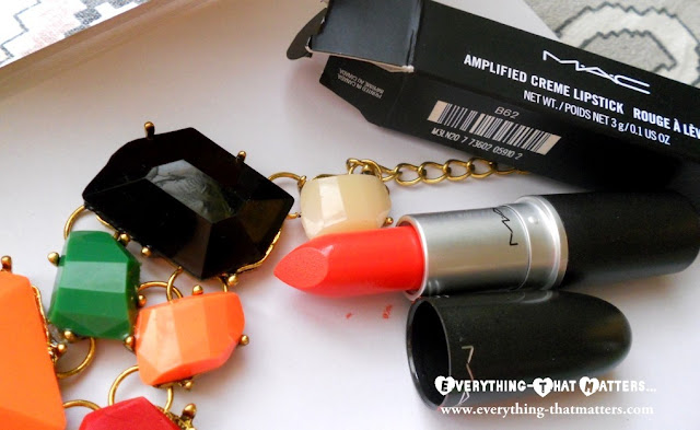 MAC+Morange+Lipstick+Amplified+Creme+swatch+review