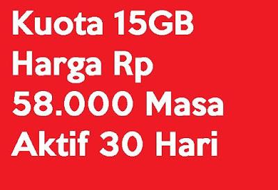 √ Paket Internet Telkomsel Murah Kuota 15GB Harga Rp 58000 Masa Aktif 30 Hari 2