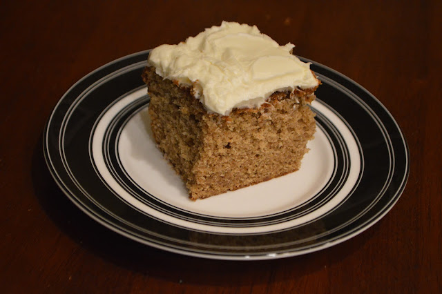 Old Fashion Spice Cake with Cream Cheese Frosting