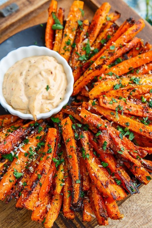 Easy Parmesan Roasted Carrot Fries