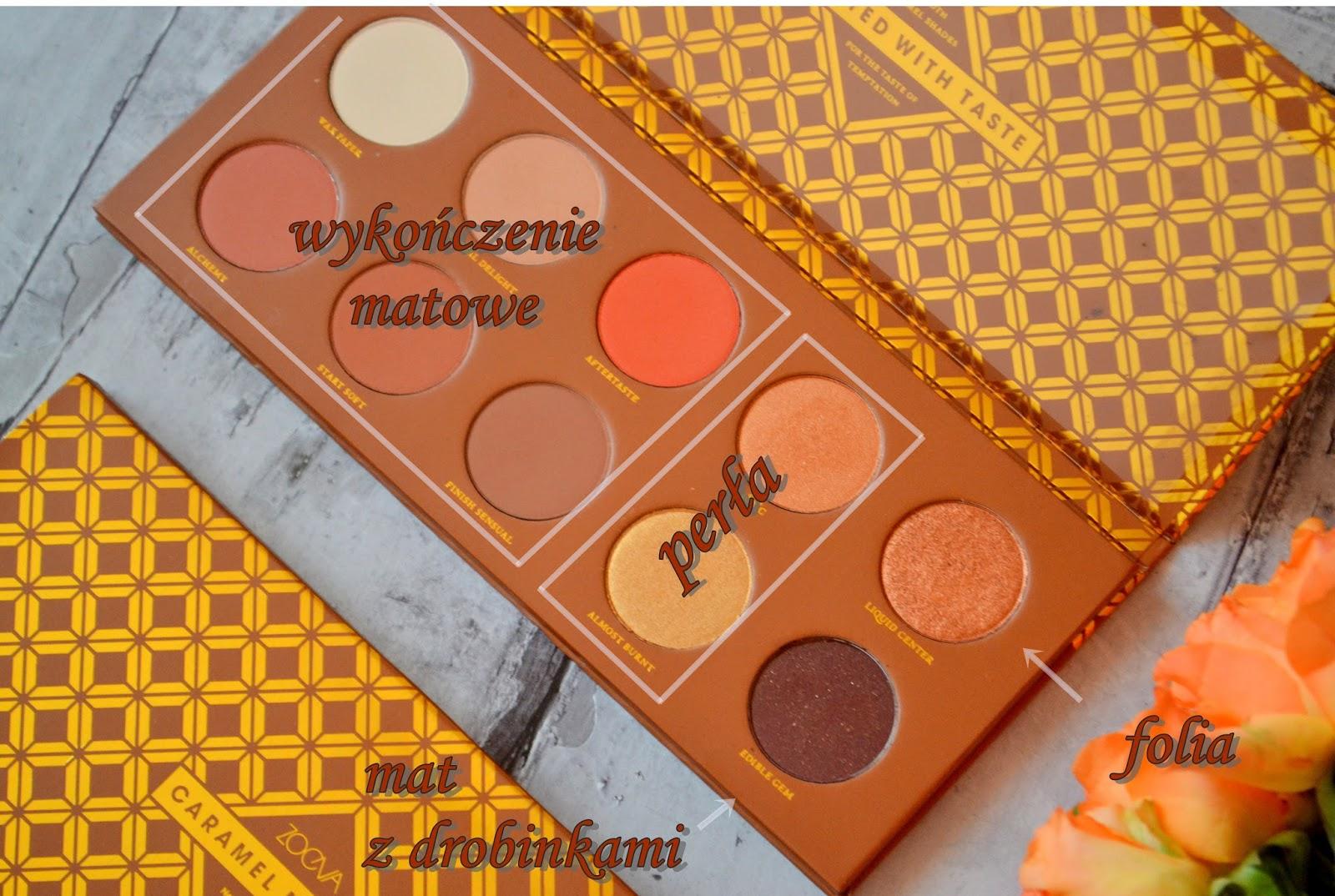 Caramel melange zoeva, najlepsze cienie, paleta cieni, caramel melange makijaż, paleta ciepłych cien