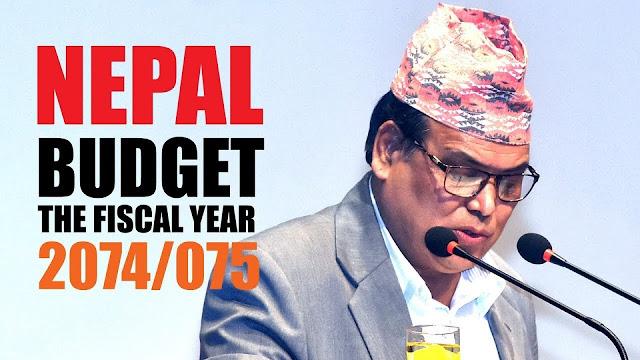 Budget Speech of Fiscal Year 2074/75 Nepal