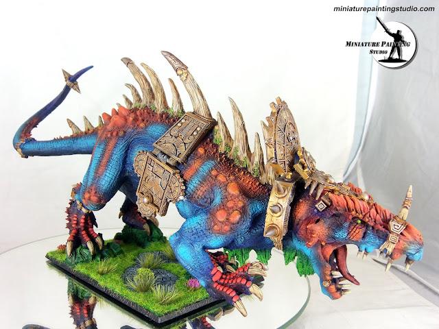Forge World lizardman carnosaur
