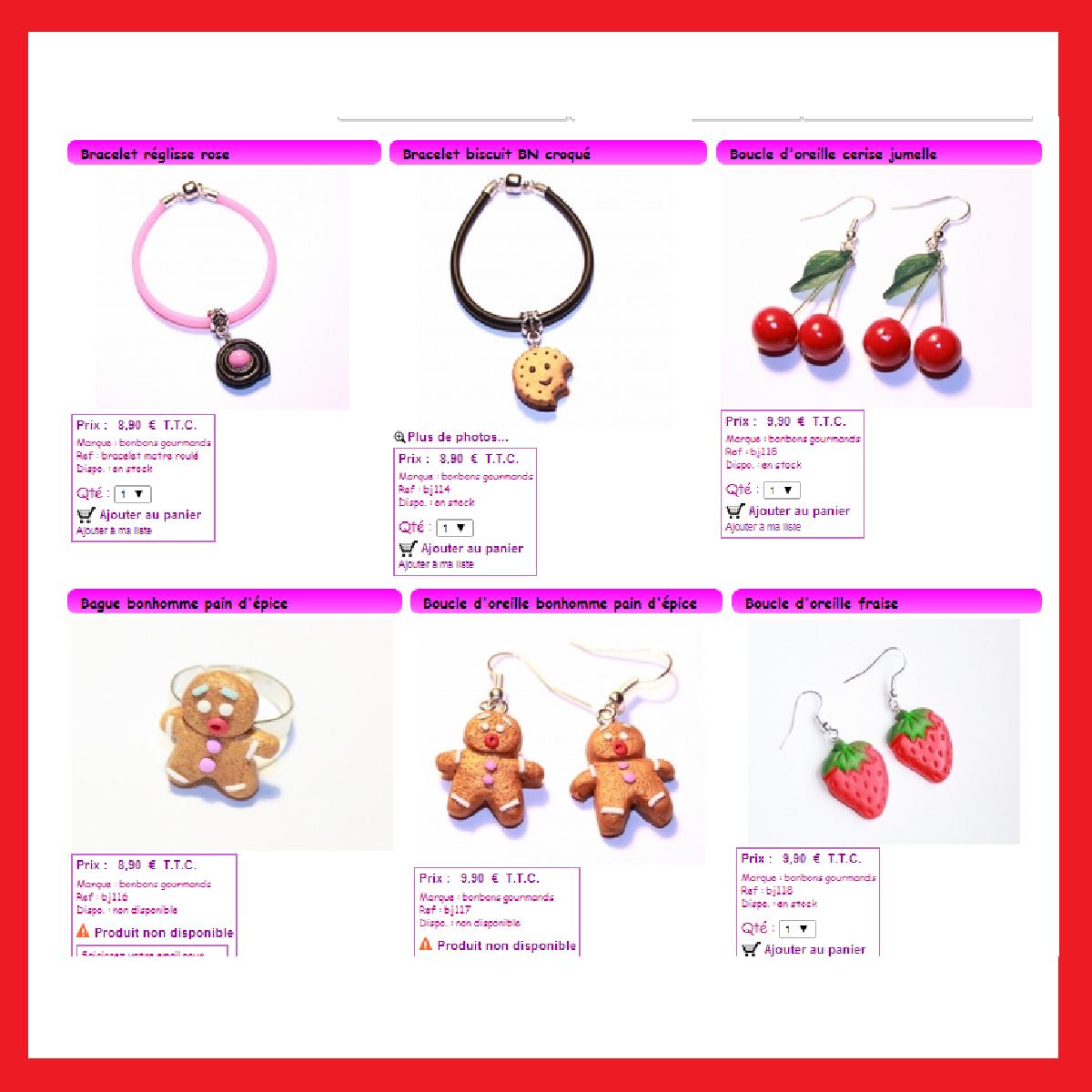 Des bijoux en forme de bonbons